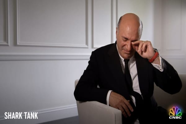 Keving O'Leary sheds a tear and opens up about his rise to millions