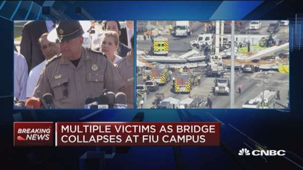 Miami officials: There were workers on bridge at time of collapse
