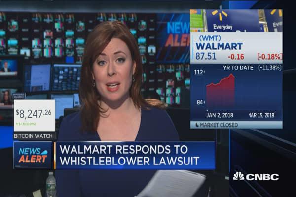 Walmart responds to whistleblower lawsuit