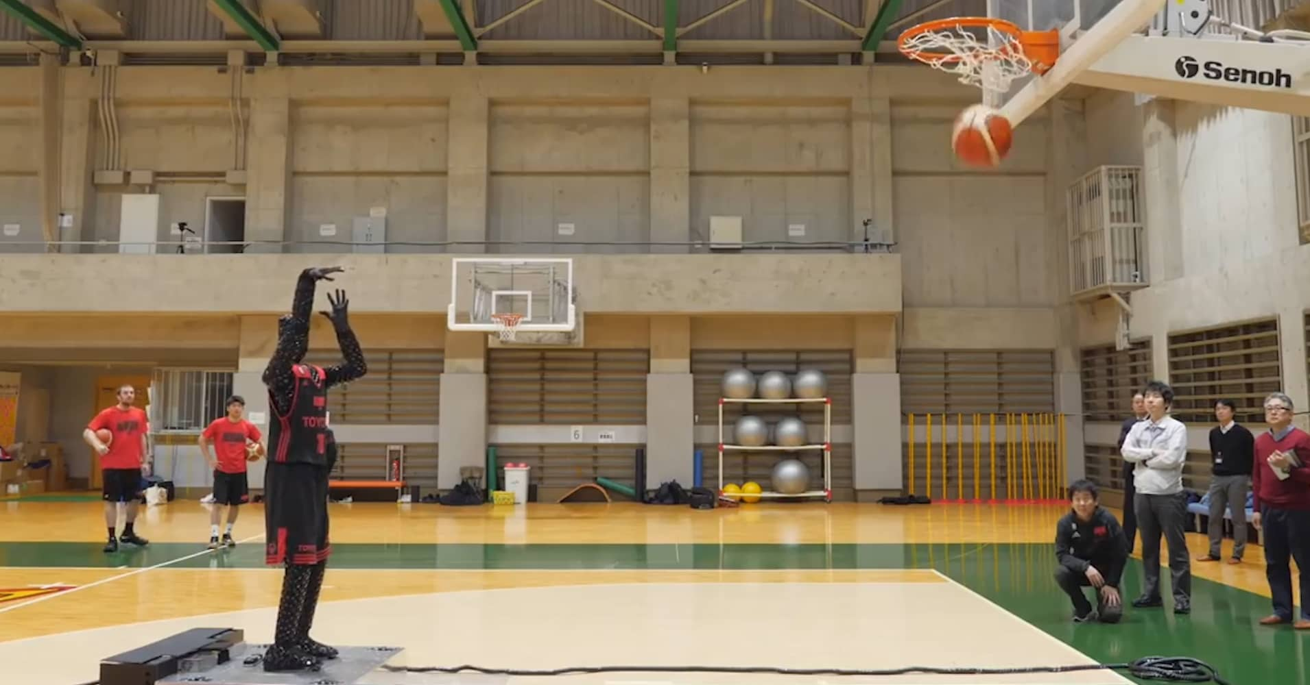 Toyota created a robot that shoots hoops better than the pros