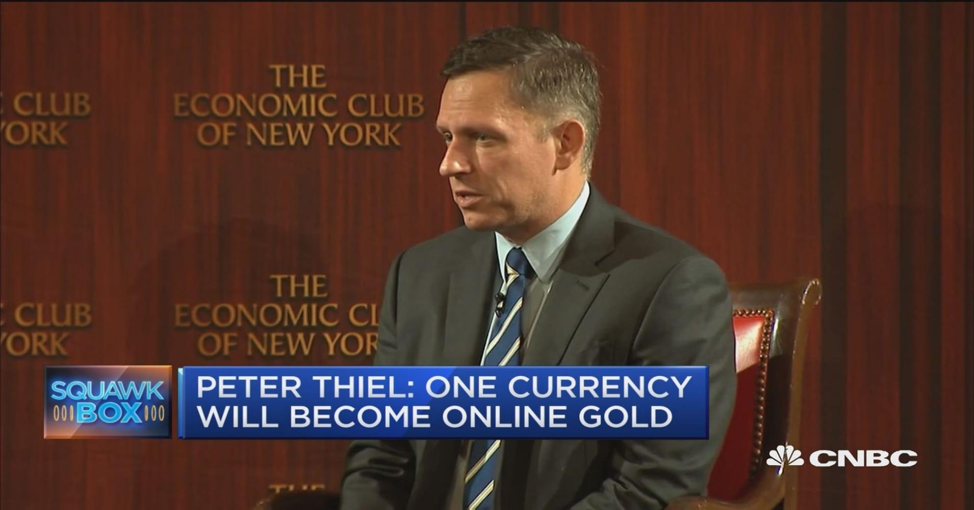 Billionaire tech investor Peter Thiel betting on bitcoin