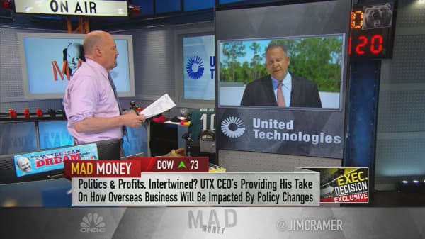 United Technologies CEO: A tit-for-tat battle on tariffs would be a problem for top customers like Boeing