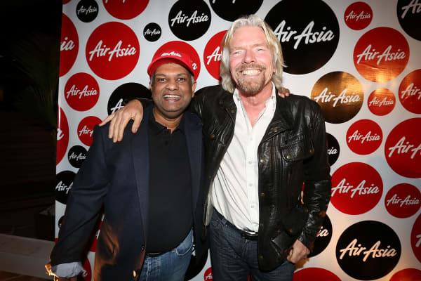 Tony Fernandes and Sir Richard Branson