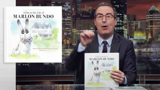 John Oliver's children book A Day in the Life of Marlon Bundo.