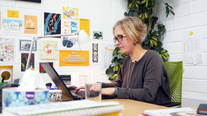 Fiona Campbell-Howes received EU funding and support to launch her Cornwall-based copywriting agency.