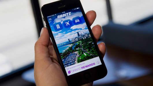 The Orbitz Worldwide Inc. application (app).