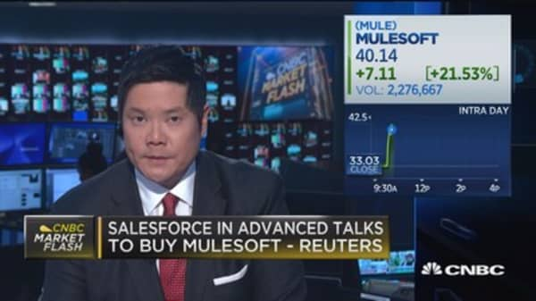 Salesforce in advanced talk to buy Mulesoft, say reports