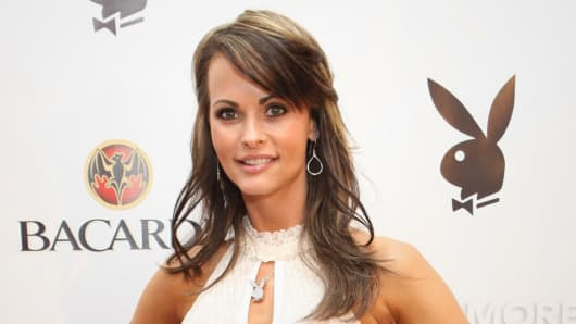 Karen McDougal, Playboy Playmate of the Year 1998.