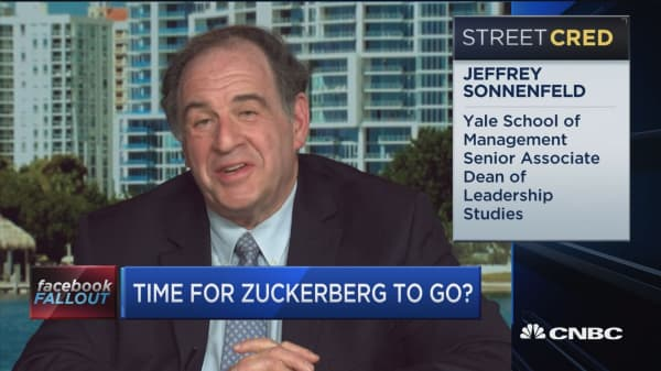 Here's who Mark Zuckerberg should be replaced by says Jeff Sonnenfeld