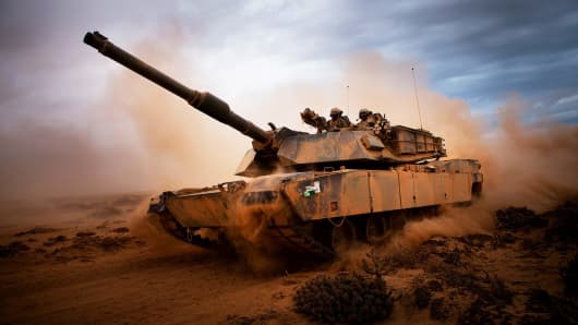 A U.S. M1A1 Abrams main battle tank