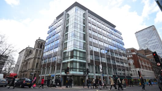 A general view of the offices of Cambridge Analytica (CA) in central London, as the data watchdog is to apply for a warrant to search computers and servers used by CA amid concerns at Westminster about the firm's activities.