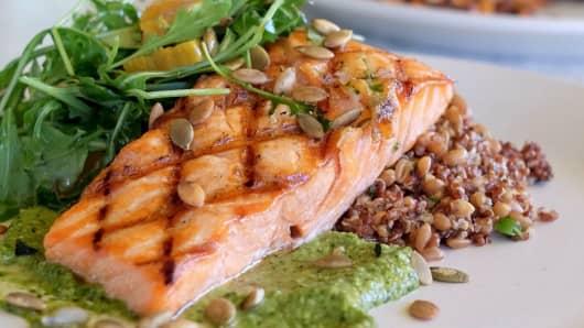A salmon dish from True Food Kitchen.
