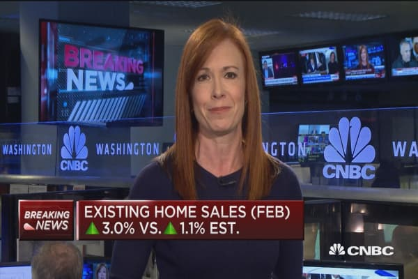 Exisiting home sales up 3.0% in February