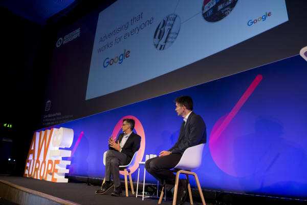 Sridhar Ramaswamy, Google's SVP ads and commerce (left) with Matt Brittin, its president, business and operations EMEA
