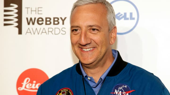 Astronaut Mike Massimino attends the 2014 Webby Awards on Monday, May 19, 2014, in New York.