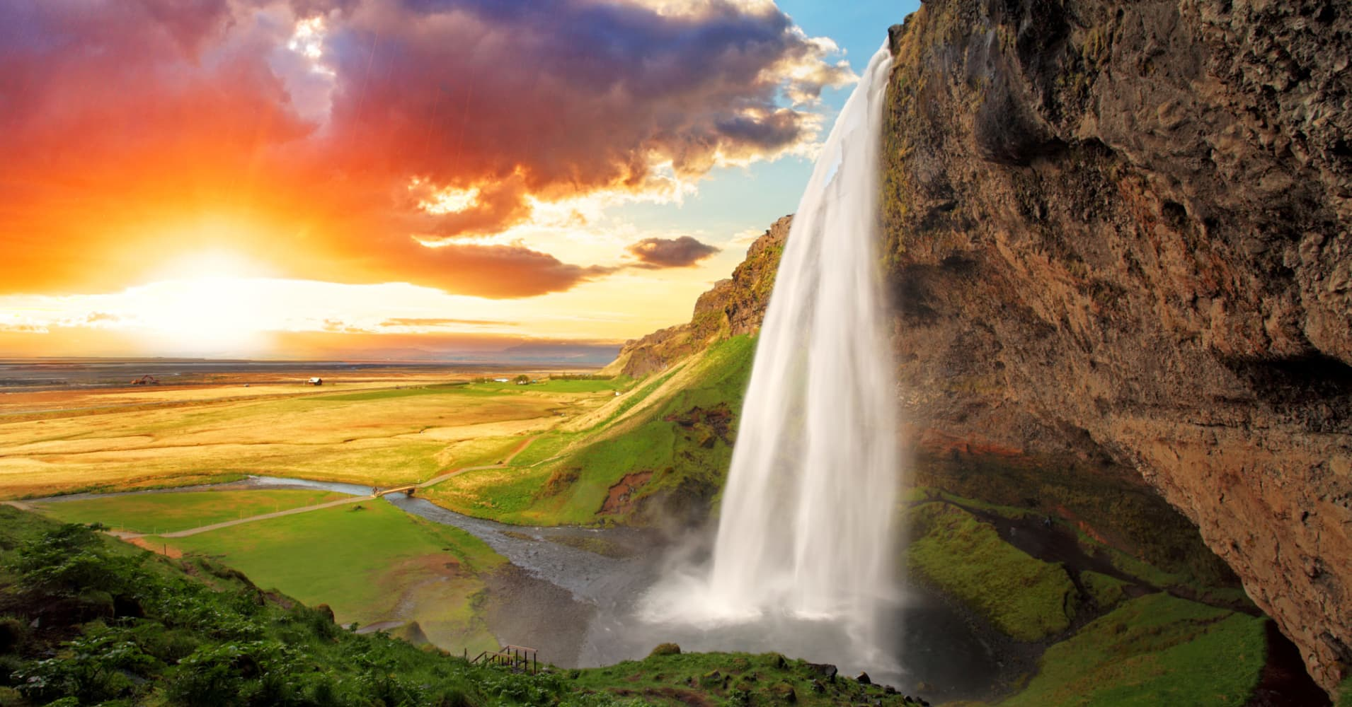 Seljalandsfoss is one of the most beautiful waterfalls in Iceland.