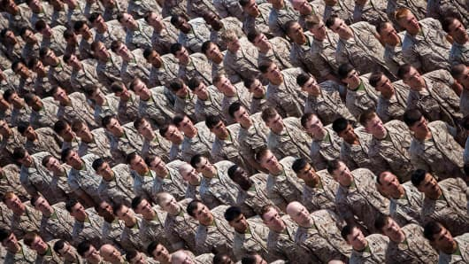 U.S. Marines and Sailors with the 22nd Marine Expeditionary Unit