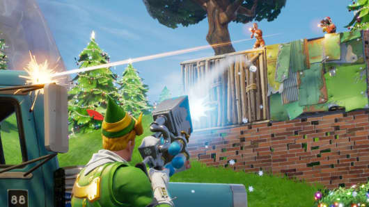 A still images from the game Fortnite