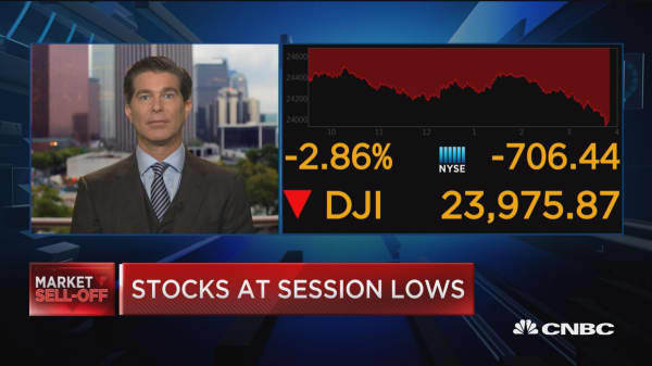 Markets selling off on fears of trade war