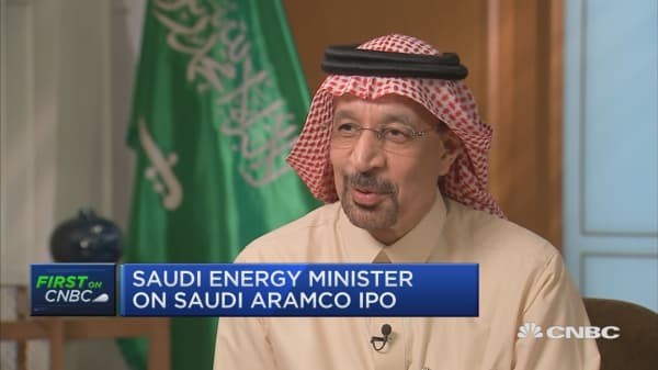 Saudi Energy Minister says Saudi Aramco could go public this year, but waiting for optimal time