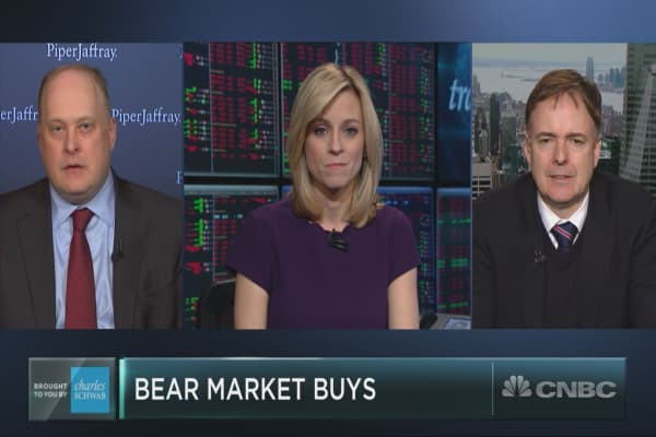Trading the five Dow stocks in bear market territory