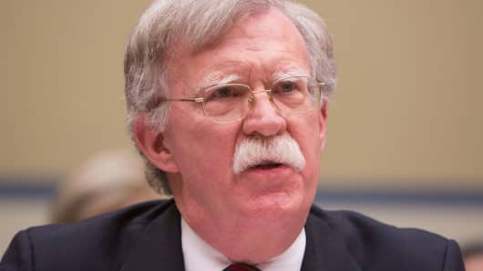 New national security adviser John Bolton speaking at Capitol Hill on November 8, 2017.