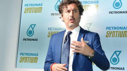 Petronas Lubricants International CEO Giuseppe D'Arrigo at Makuhari Messe on January 12, 2018 in Tokyo, Japan.