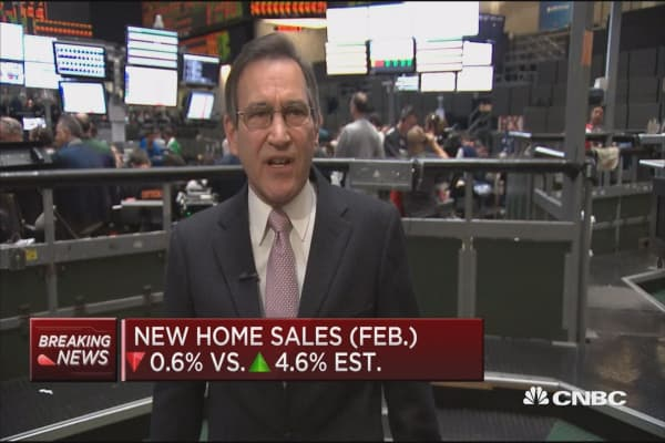New home sales down 0.6% in February