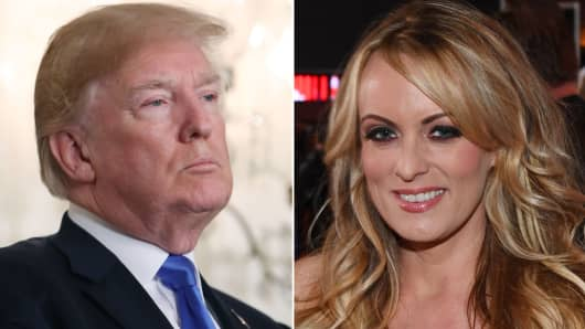 President Donald Trump and Stormy Daniels.