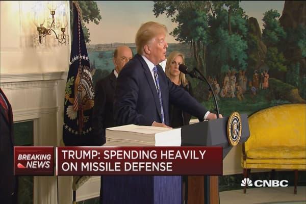 Trump: Spending heavily on missile defense, immigration judges