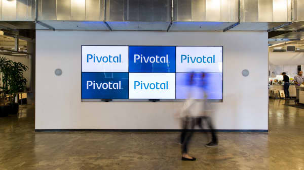 Signage at Pivotal Software