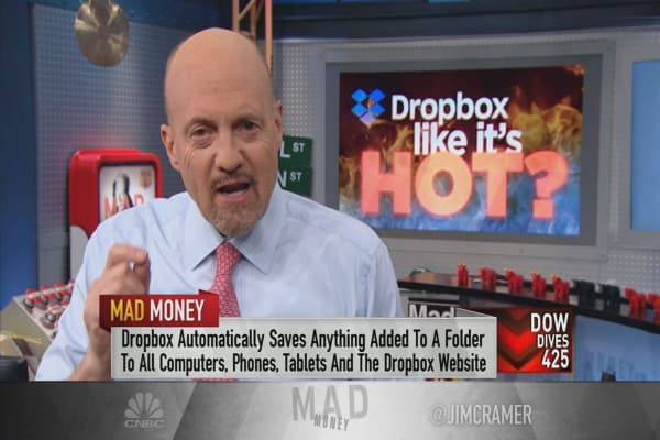 Cramer: Dropbox deserves to trade like a cloud king, but be careful buying
