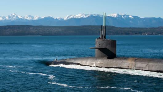 The Ohio-class ballistic-missile submarine USS Henry M. Jackson.