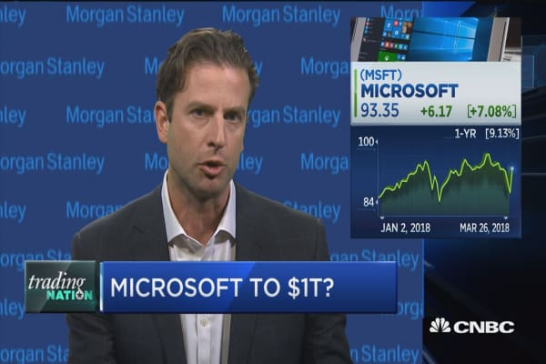 Trading Nation: Microsoft to $1 trillion?
