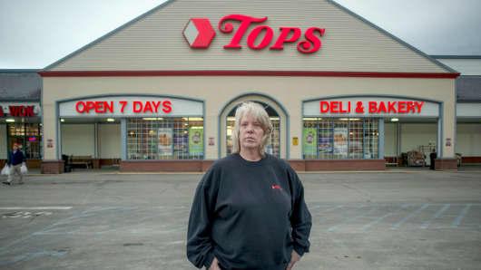 Maribeth Druse at the Tops grocery store in Cooperstown, N.Y., Feb. 28, 2018.