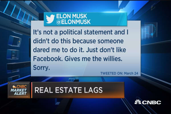 Sorry, but Facebook give me the 'willies,' tweets Musk