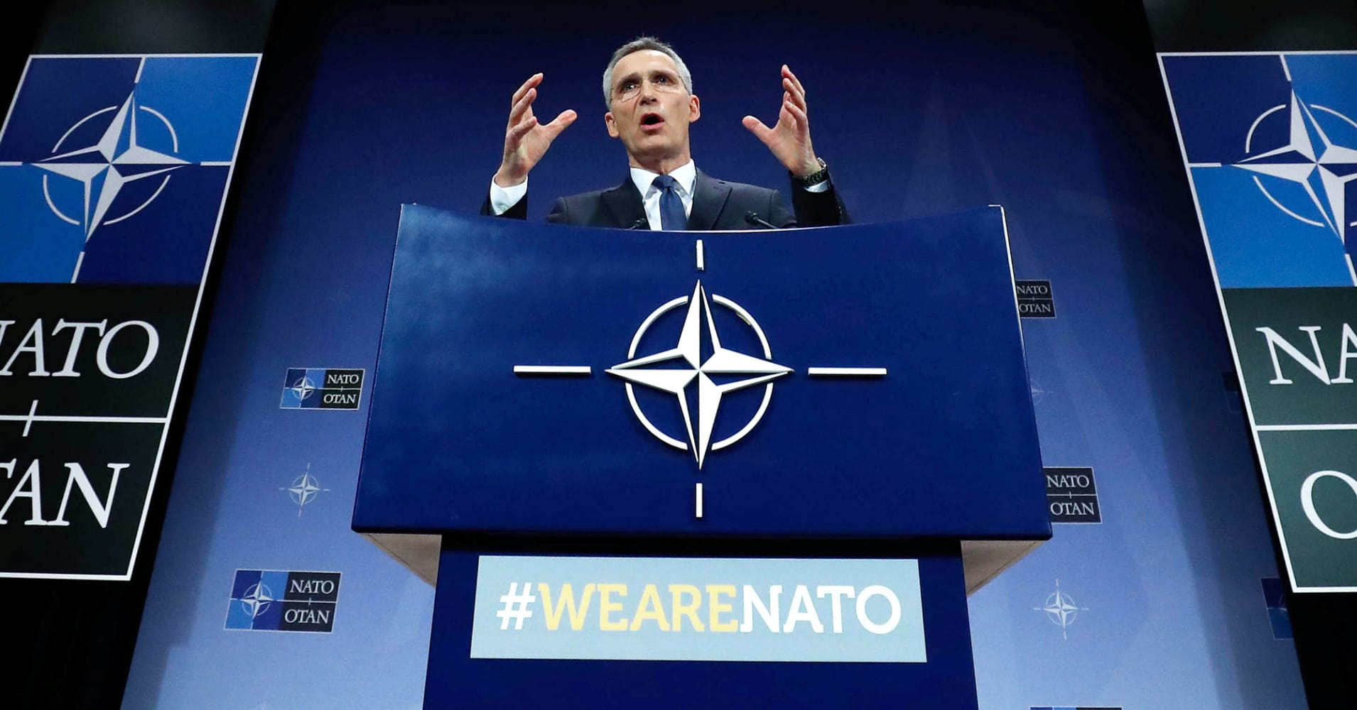 Russian sanctions are helping to prevent another Crimea, NATO's Stoltenberg says