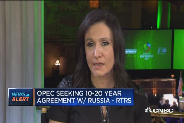 OPEC seeking 10-20 year agreement with Russia, says Reuters
