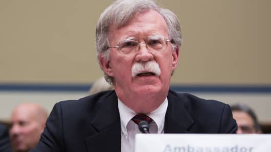 John Bolton testifies on Capitol Hill on November 8, 2017 in Washington, DC.