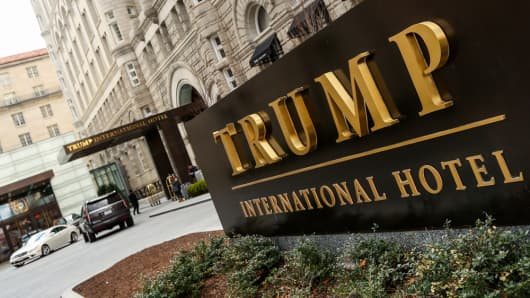 The Trump International Hotel in Washington, D.C.