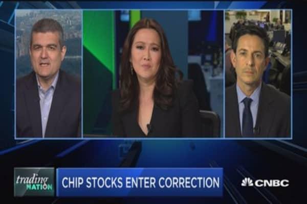 Trading Nation: Chip stocks enter correction