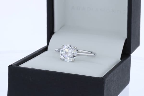Ada Diamonds creates bespoke fine jewelry with lab-grown diamonds. The company customizes intricate designs and more simple designs like this signature .95 carat solitaire.