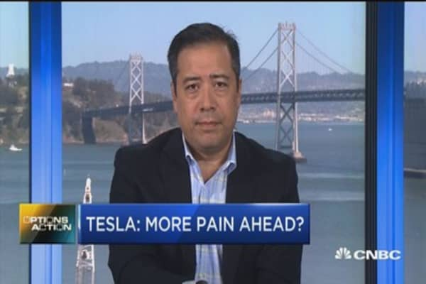 Options traders are pumping the brakes on Tesla
