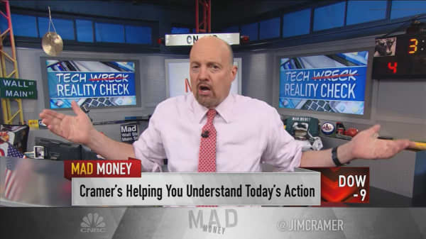 Cramer makes the case for consumer goods stocks amid tech-led declines