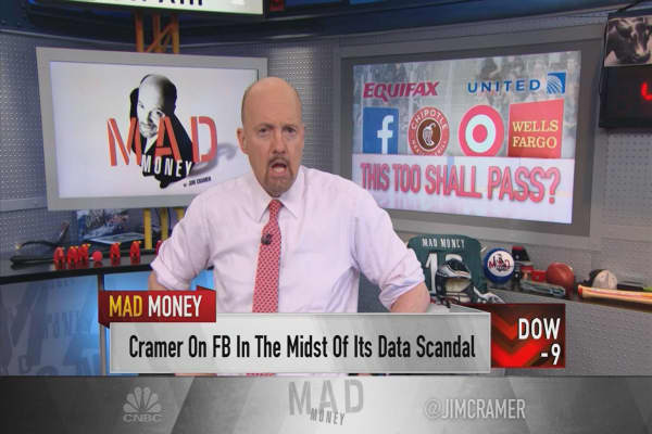 Cramer: How Facebook's drop compares to other scandal-ridden stocks like Chipotle