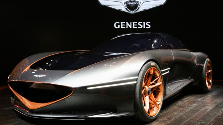 Genesis on display at the 2018 New York International Auto Show.