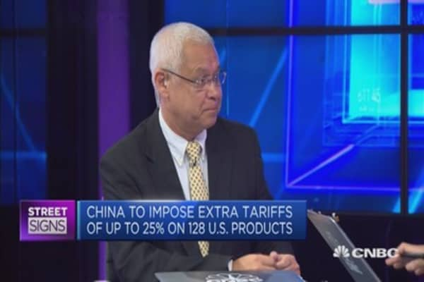 Discussing China's 'strategic tariffs' on the US