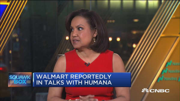 Walmart eyes Humana in potential merger