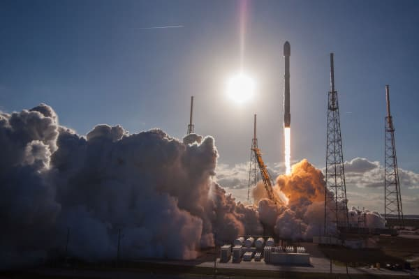 SpaceX launches the GovSat-1 satellite aboard a Falcon 9 rocket from launch pad 40 at Cape Canaveral Air Force Station, Florida.
