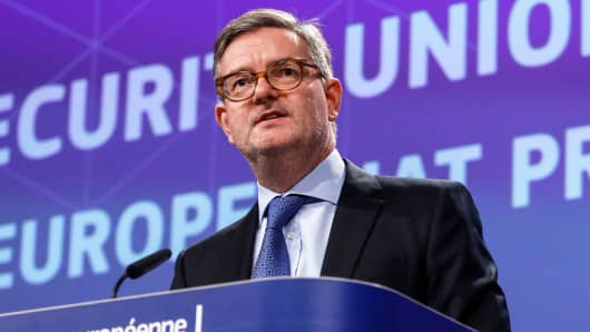 European Commissioner for security Julian King